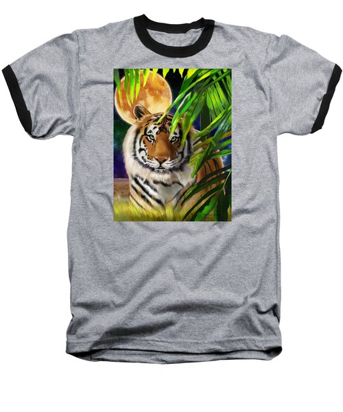 Second In The Big Cat Series - Tiger Baseball T-Shirt by Thomas J Herring