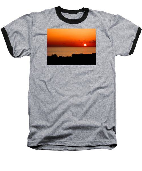 Set Into The Sea Baseball T-Shirt