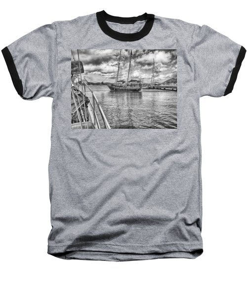 Baseball T-Shirt featuring the photograph Setting Sail by Howard Salmon
