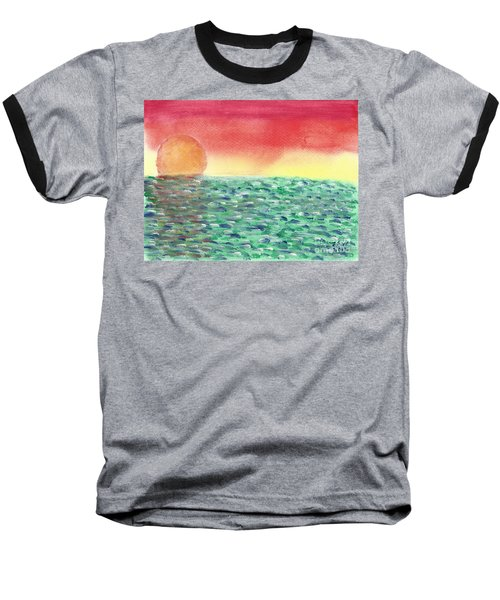 Baseball T-Shirt featuring the painting Setting Sea by John Williams