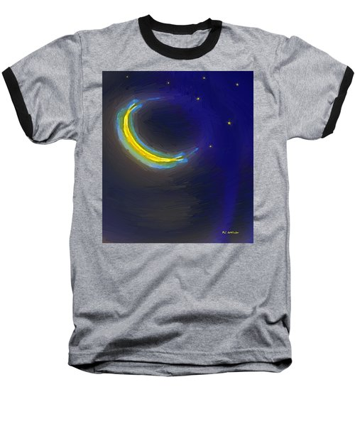 Seven Stars And The Moon Baseball T-Shirt by RC deWinter