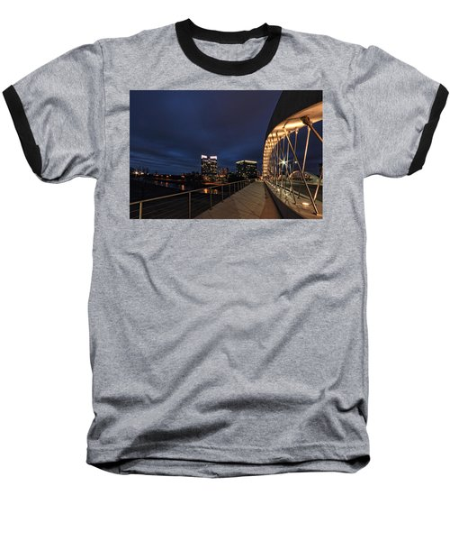 Seventh Avenue Bridge Fort Worth Baseball T-Shirt by Jonathan Davison