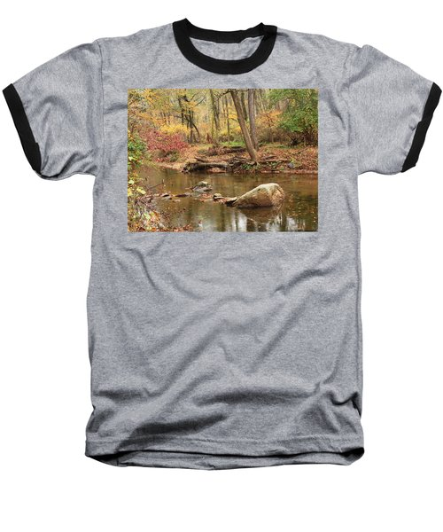 Baseball T-Shirt featuring the photograph Shades Of Fall In Ridley Park by Patrice Zinck
