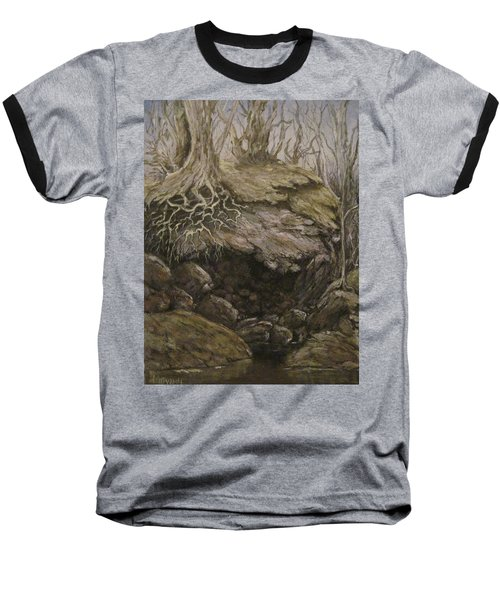 Baseball T-Shirt featuring the painting Shades Of Froud by Megan Walsh