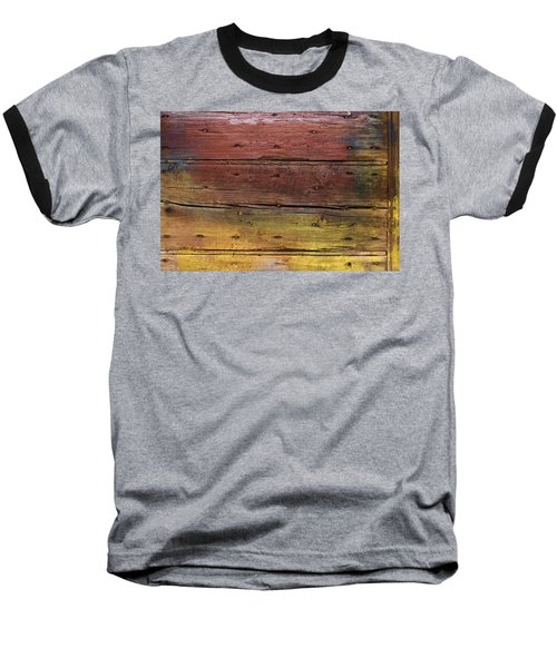 Shades Of Red And Yellow Baseball T-Shirt by Ron Harpham