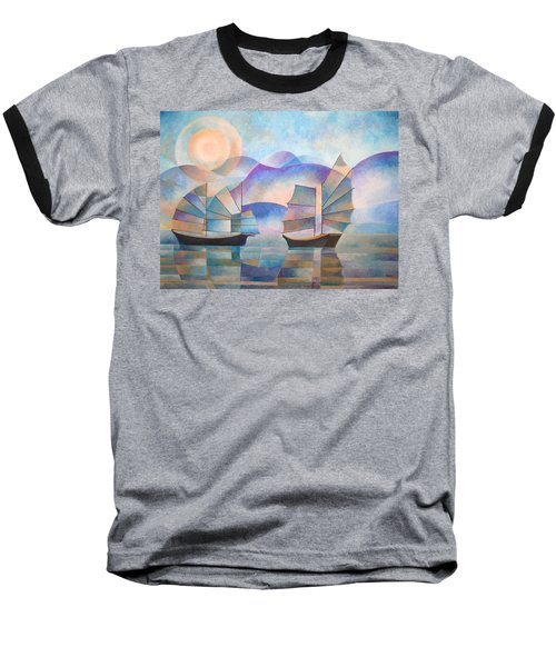 Shades Of Tranquility Baseball T-Shirt
