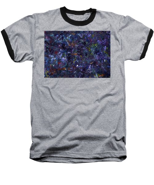 Baseball T-Shirt featuring the painting Shadow Blue by James W Johnson