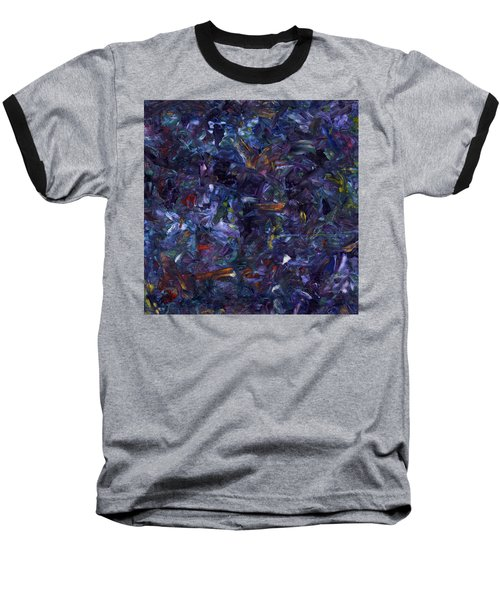 Baseball T-Shirt featuring the painting Shadow Blue Square by James W Johnson