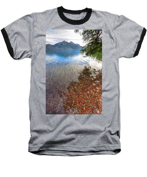 Baseball T-Shirt featuring the photograph Shadow Pebbles by David Andersen