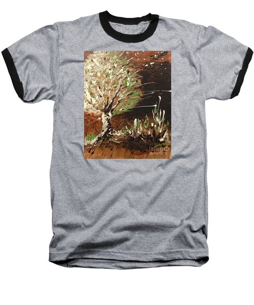 Baseball T-Shirt featuring the painting Shadows by Holly Carmichael