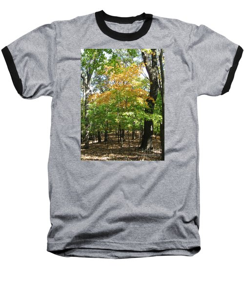 Shadows In The Forest Baseball T-Shirt