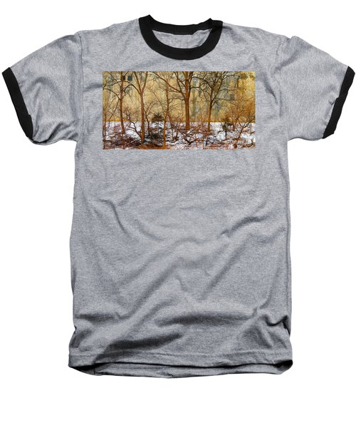 Baseball T-Shirt featuring the photograph Shadows In The Urban Jungle by Nina Silver