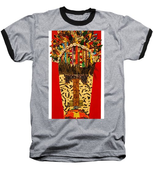 Baseball T-Shirt featuring the tapestry - textile Shaka Zulu by Apanaki Temitayo M