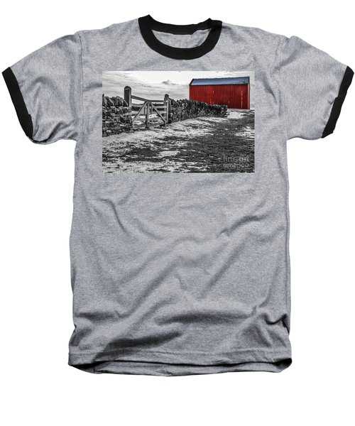 Shakertown Red Barn - Sc Baseball T-Shirt by Mary Carol Story