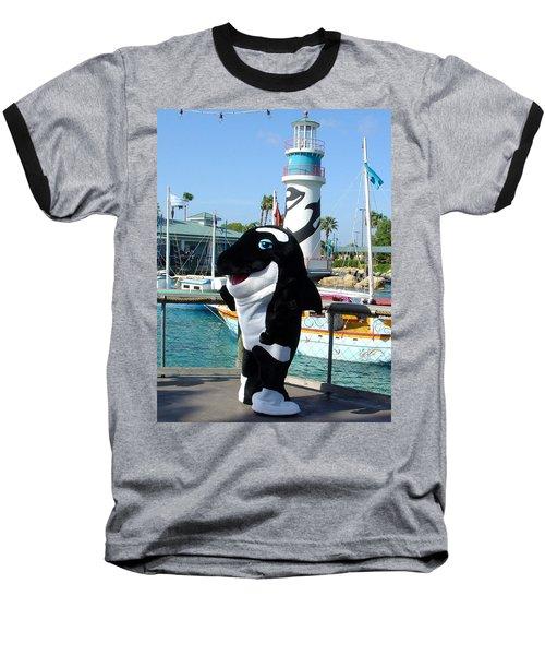 Shamu Baseball T-Shirt by David Nicholls