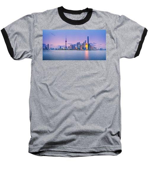 Shanghai Pudong Skyline  Baseball T-Shirt