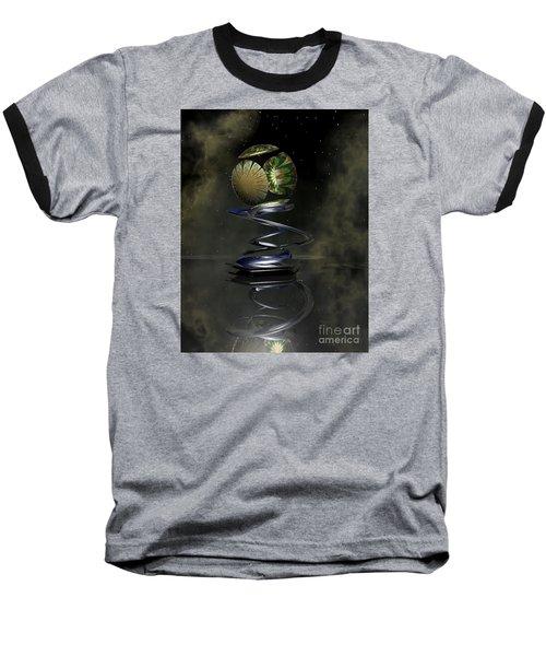 Shapero's Flower Baseball T-Shirt by Shari Nees