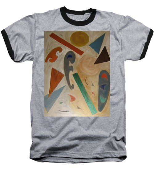 Baseball T-Shirt featuring the painting Shapes by Barbara Yearty