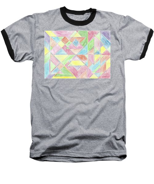 Shapes Of Colour Baseball T-Shirt by Tracey Williams
