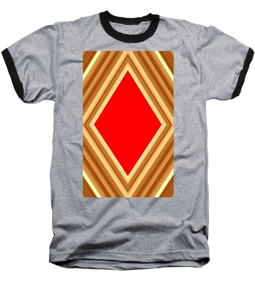 She Said Love Was Red  Baseball T-Shirt by Cletis Stump