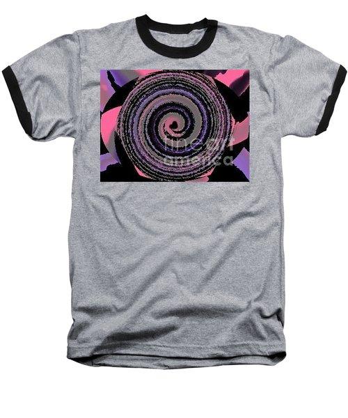 Baseball T-Shirt featuring the digital art She Wirls by Catherine Lott
