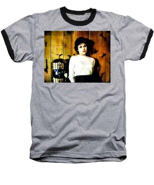Baseball T-Shirt featuring the painting Shed Been Murdered by Luis Ludzska