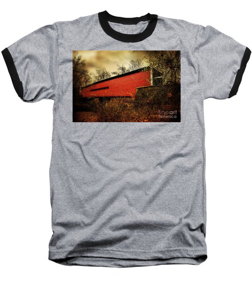 Sheeder Hall Covered Bridge 2 Baseball T-Shirt