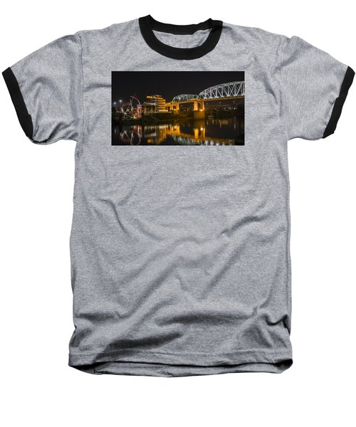 Shelby Street Bridge Nashville Baseball T-Shirt