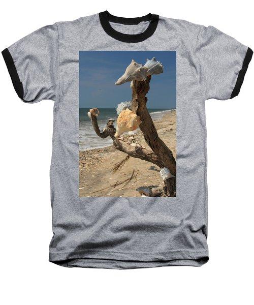 Shell Art Baseball T-Shirt
