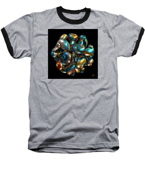 Baseball T-Shirt featuring the digital art Shell Congregation by Manny Lorenzo