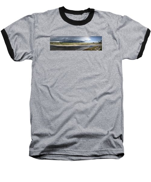 Baseball T-Shirt featuring the photograph Shell Island Squall by Phil Mancuso