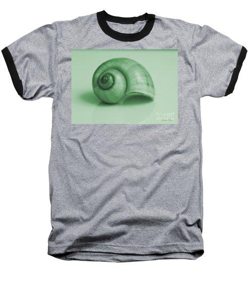 Shell. Light Green Baseball T-Shirt