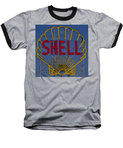 Shell Sign Cambridgeside Baseball T-Shirt
