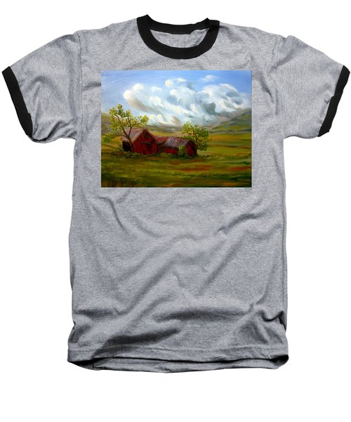 Baseball T-Shirt featuring the painting Shelter From The Storm by Meaghan Troup