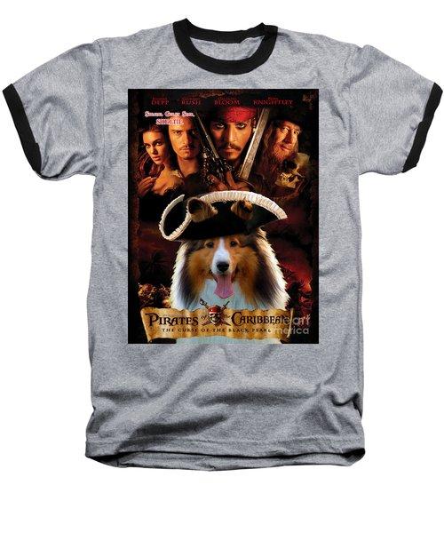 Sheltie - Shetland Sheepdog Art Canvas Print - Pirates Of The Caribbean The Curse Of The Black Pearl Baseball T-Shirt