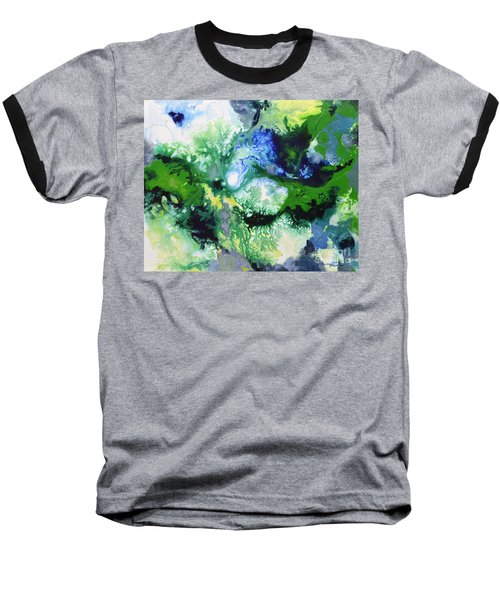 Shift To Grey Baseball T-Shirt by Sally Trace