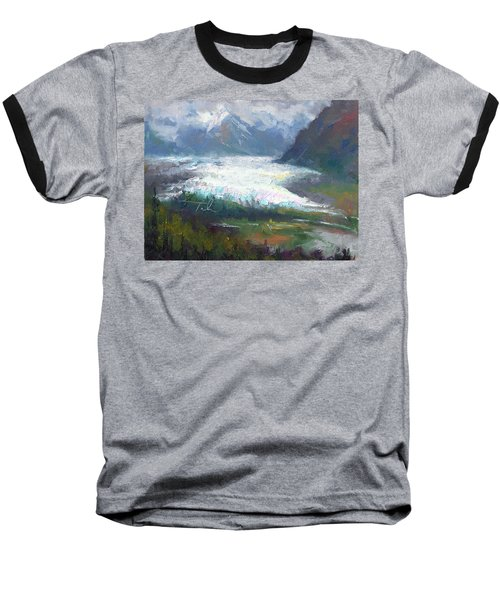 Shifting Light - Matanuska Glacier Baseball T-Shirt