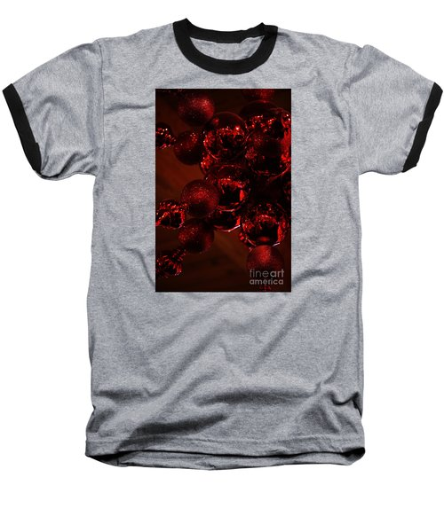 Baseball T-Shirt featuring the photograph Shimmer In Red by Linda Shafer