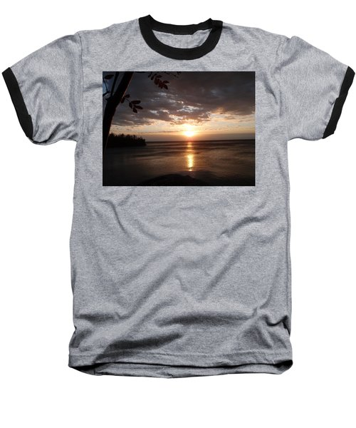 Baseball T-Shirt featuring the photograph Shimmering Sunrise by James Peterson