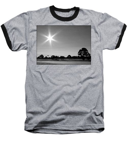 Baseball T-Shirt featuring the photograph Shine And Rise by Faith Williams