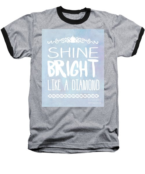 Shine Bright Blue Baseball T-Shirt by Pati Photography