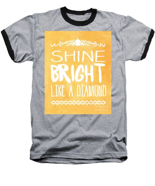 Shine Bright Orange Baseball T-Shirt by Pati Photography