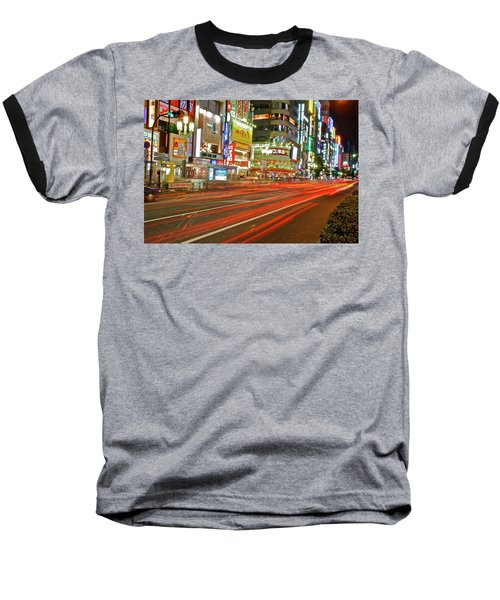 Shinjuku Neon Strikes Baseball T-Shirt