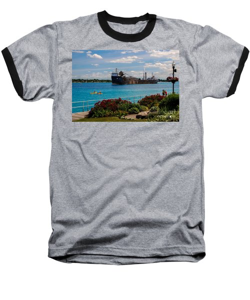 Ship And Kayaks Baseball T-Shirt