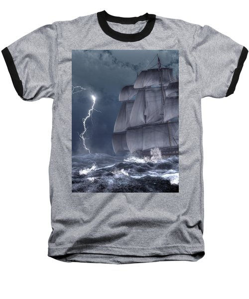 Ship In A Storm Baseball T-Shirt