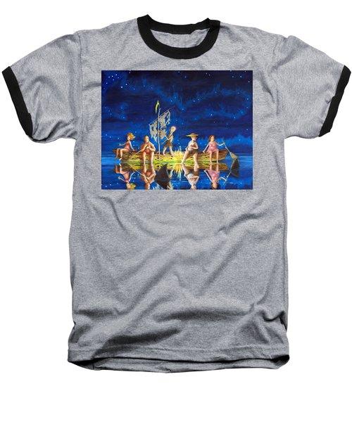 Ship Of Fools Baseball T-Shirt by Matt Konar