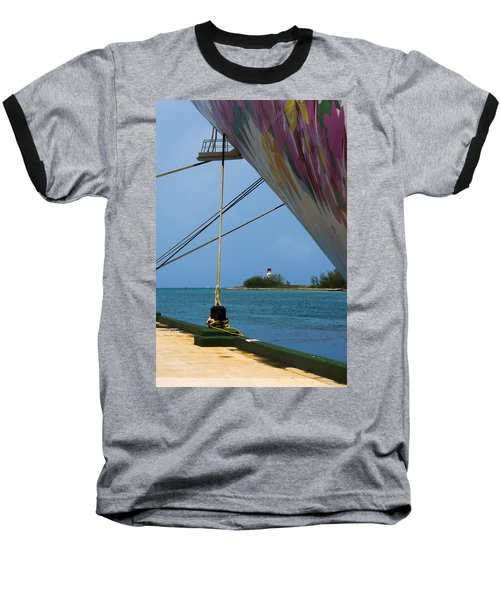 Ship's Ropes And Lighthouse Baseball T-Shirt