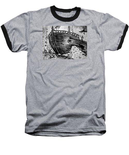 Shipwreck Baseball T-Shirt by Salman Ravish