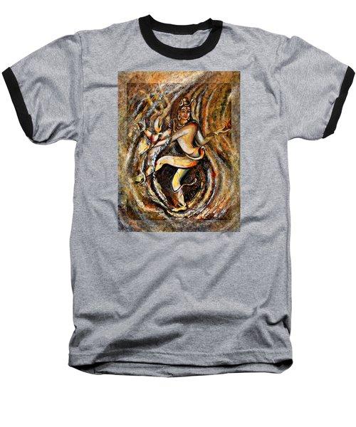 Baseball T-Shirt featuring the painting Shiva Eternal Dance by Harsh Malik