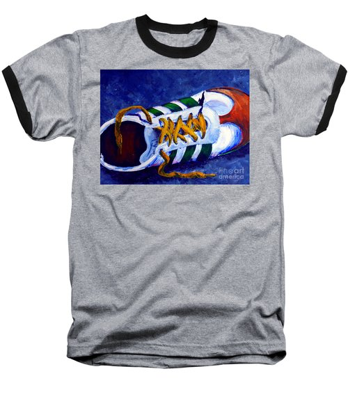 Baseball T-Shirt featuring the painting Shoeless by Jackie Carpenter